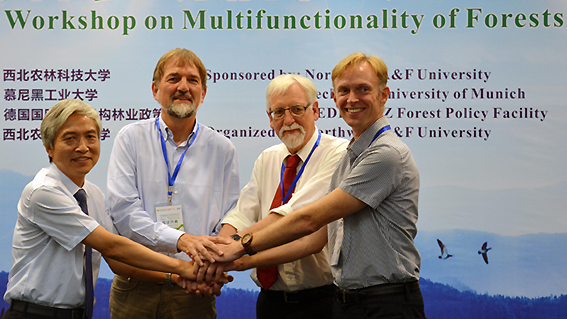 International cooperation in science: Prof. Benz of TUM with colleagues at a workshop in Yangling, China.
