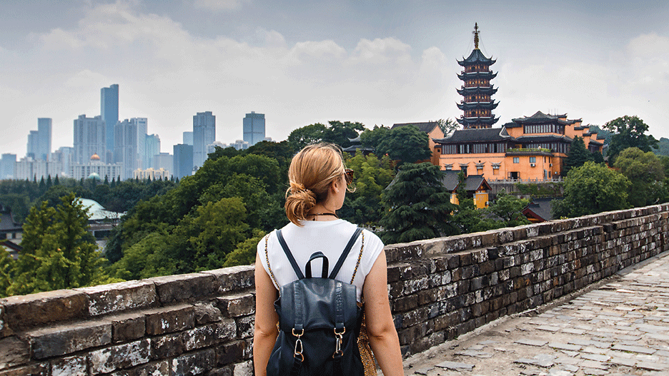 A student of TUM during her stay abroad in China.